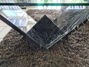 Couchtisch Glastisch mit Naturstein in