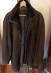 Lederjacke braun - getragen Größe 60