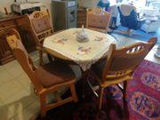Esszimmer Garnitur mit 4 Stühlen