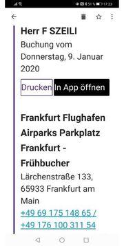 Parkgutschein Frankfurt Flughafen