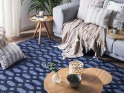 Teppich marineblau 140 x 200