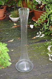 Vase Bodenvase 80cm hoch Glas