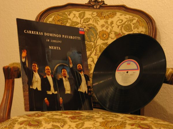Vinyl-LP - Carreras Domingo Pavarotti - in concert -