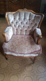 Antike Sitzgruppe 2 Sessel Sofa