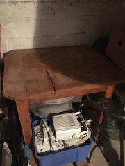 Tisch rustikaler Holztisch massiv