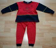 Roter Schlafanzug - Größe 92 - Pyjama -