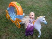 Barbie Cinderella Kutsche mit Pferd
