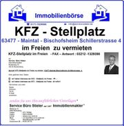 KFZ - Stellplatz 63477 Maintal elektronischer