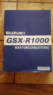 Wartungsanleitung Fahrerhandbuch für Suzuki GSXR-1000