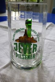 Jever-Glas mit Henkel