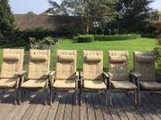6 Garpa klassische Gartenstühle aus