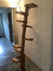 Massive Katzentreppe aus Holz für