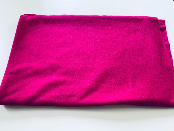 Stoffrest Jersey rosa mit Angoraoptik