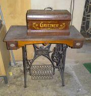 Antike Gritzner Nähmaschine aus Omas
