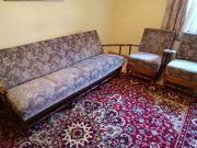 Schlafcouch mit 2 passenden Sesseln