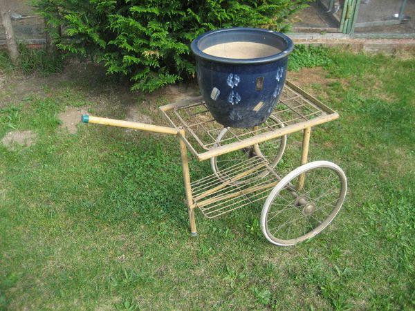 Gartendekoration Garten Deco Metallwagen Eigenbau