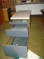 Bürocontainer Beistelltisch für Schreibtisch mit