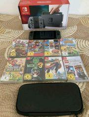 Nintendo Switch Grau 8 Spiele