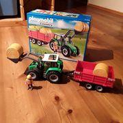 Traktor mit Anhänger Playmobil country