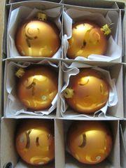 Weihnachtskugeln cognacfarben u orange braun