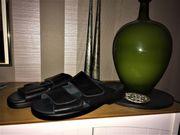 Herrenbekleidung Pantoletten Sandalen Hausschuhe Leder
