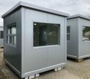 Bürocontainer Pförtnerhaus Baustellencontainer -neu -