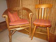 3 Esstischstühle mit Maßkissen