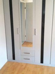 Kleiderschrank Grau Schlafzimmer Spiegel