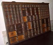 Original alter Setzkasten Holz für
