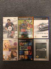 Wii und PlayStation Spiele