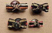 4x Miniaturabzeichen Knopflochspangen Verwundeten Gefechts