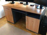 Schreibtisch Anthrazit Nussbaum 150x68x78cm BxLxH