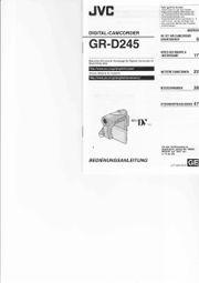 Digitale Videocamera JVC GR-D245E
