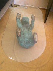 Tisch Couchtisch grün patenierte Bronze