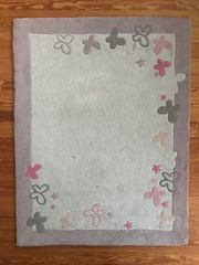 Vertbaudet Kinder-Teppich rechteckig Schmetterling 133x100