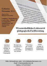 Wissenschaftliches Korrektorat und Lektorat pädagogische