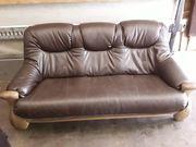 Echt - Ledercouch Sofa aus echtem