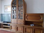 Wohnzimmerschrank mit Couchtisch Eiche Rustikal