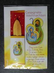Weihnachtskarte mit Kugelschreiber neu auch