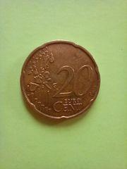 20 cent mit alter Landkarte
