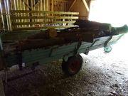 Holzwagen gefertigt aus Ladewagen als