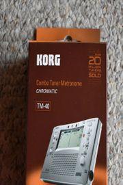 Korg TM-40 Stimmgerät und Metronom - kaum