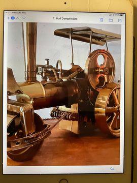 RC-Modelle, Modellbau - Dampfwalze Dampfmaschine aus Messing Old