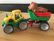 Gowi Traktor mit Pferdetransporter