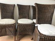 Esstisch-Stühle Rattan