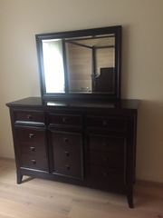 Schlafzimmermöbel 2x Nachttische Spiegelkommode Bettgestell