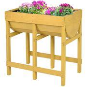 Blumenbeet Pflanzkasten Gelb Holz 30x39cm
