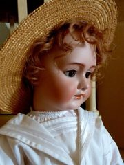 Alte Schaufenster Puppe Frankreich Porzellankopf