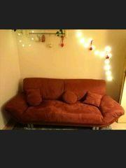 Sofa Couch ca 210cm Orange