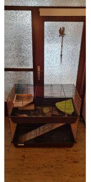 Doppelstöckiger Käfig für Meerschweinchen oder